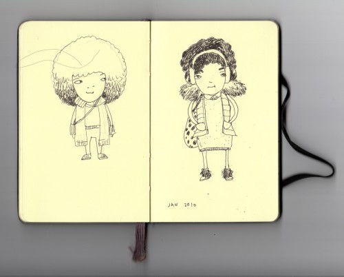 Two character sketch on moleskin