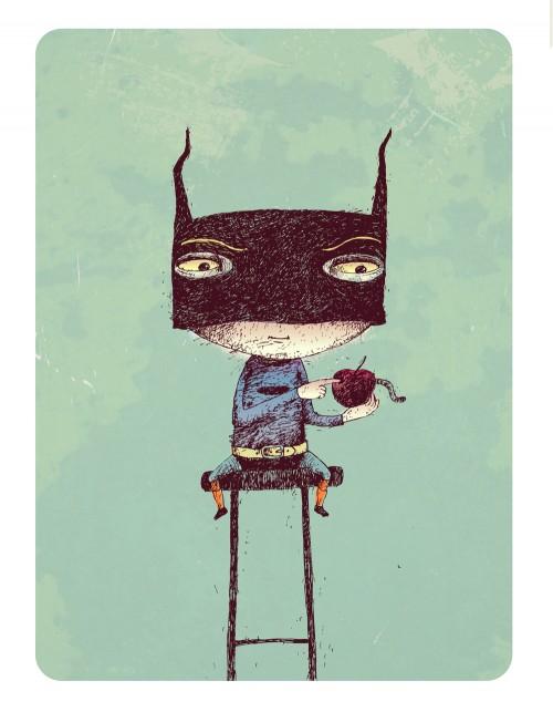 apple and batman