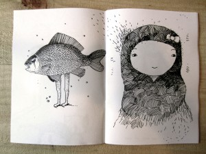 Fish with legs and doll