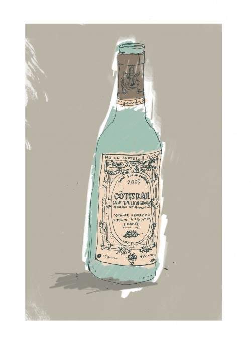 bottle of wine illustration