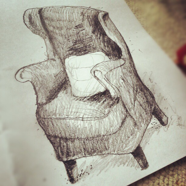 Chair #drawing #sketch #thewipe #comfy  #pencil