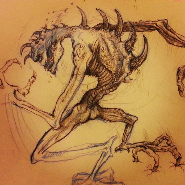 My old drawing . #Monster #sketchbook #olddrawing #sunday  #easter #today  #webstagram #thewipe