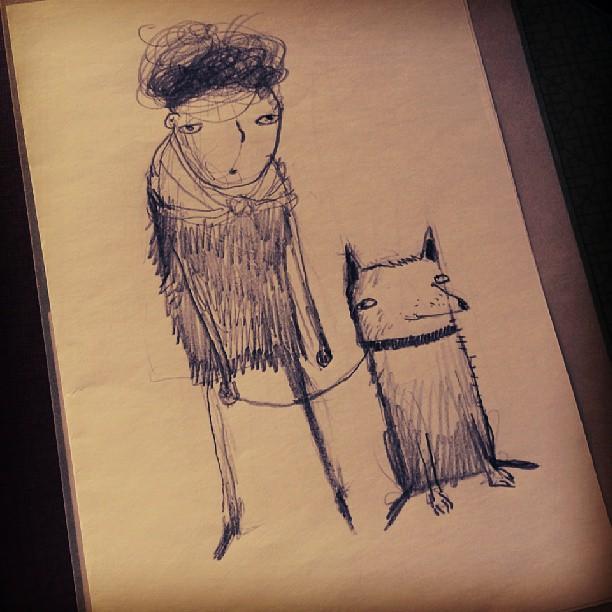 :D #found #drawing #dog #pet #today #saturday #statigram #webstagram #thewipe