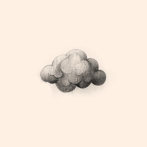 Fluffy cloud makes me happy #thewipe #today #friday #drawing #pencil #cloud #statigram #webstagram