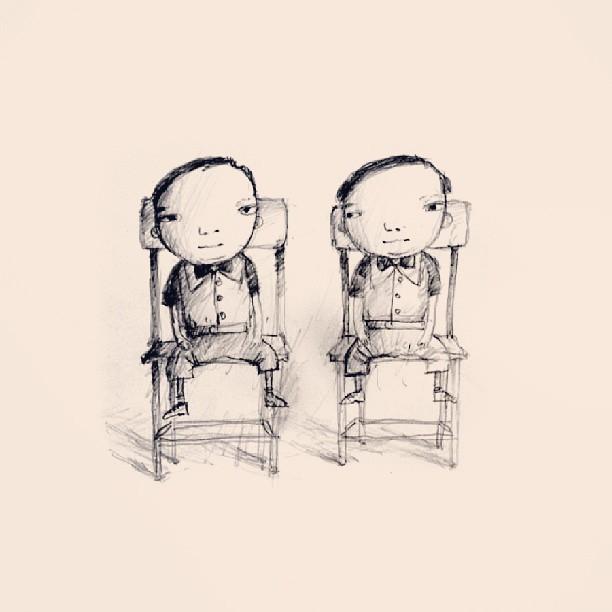 Twins #drawing #pencil #sketch #character #thewipe #artstagram #hkig #ighk #hk #hongkong #today