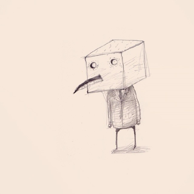New drawing #cube #drawing #thewipe #bored #webstagram #artstagram