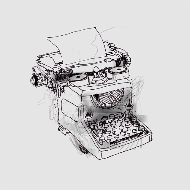 Typwriter -i have neen wanting to draw one lol. Here's my promise @yendisayad hope u like it. #artist_community  #typewriter #illustration #drawing  #artart6  #drawing #artnerd #artstagram  #thewipe #hongkong  #hongkongartist