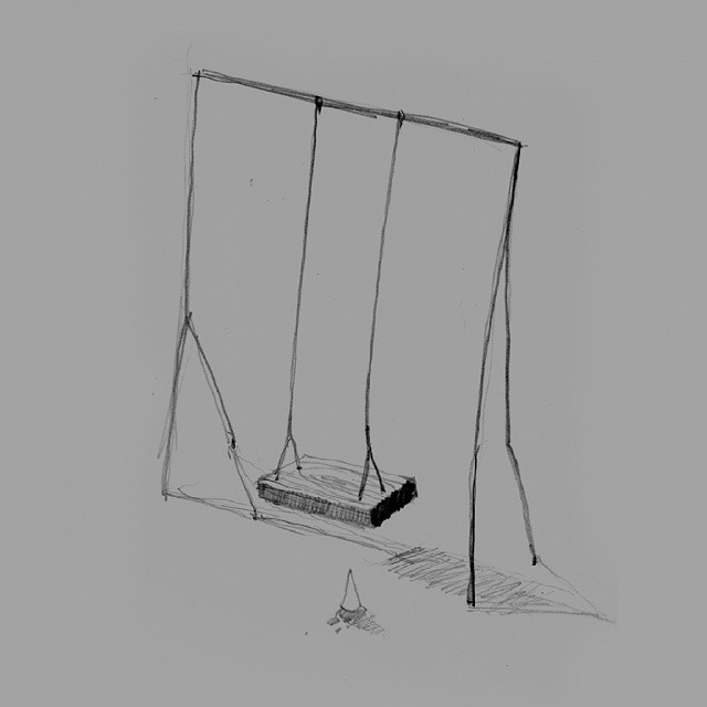 Stolen  happiness #drawing #swing #happiness #icecream #pencil  #artist_community  #artstagram  #artlife  #instaart  #ideas #thewipe  #2dart #grey #neutral #tegning